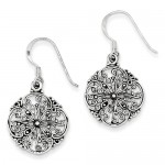 sterling silver antiqued filigree Earrings