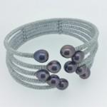 Sterling Silver Lavender Pearl Cuff Bracelet