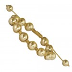 10mm Champagne Shell Pearl Beads Champagne Cord Bracelet