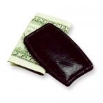 Black Leather Money Clip