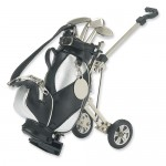Black/Silver Fabric Golf Cart Pen Holder w/3 Pens