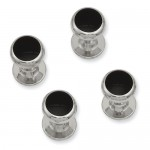 Four Piece Black Epoxy Tuxedo Studs