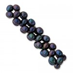 Freshwater Cultured Black Rice Pearl Stretch Bracelet