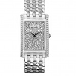 Ladies Caravelle by New York Silver Finish Bracelet Band Watch