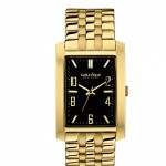 Men's Gold-Tone Bracelet Band Watch