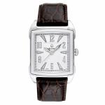Men's Brown Leather Strap Bulova Watch