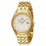 Men's Bulova Gold Finish Bracelet Band Watch
