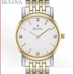 Men's Two Tone Bracelet Bulova Watch