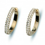 Oliver Weber Swarovski Crystal Hoop Earrings