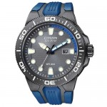 Citizen Eco Drive Men's Blue and Black Neoprene Band Watch
