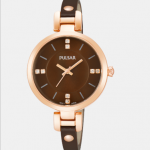 Ladies Pulsar Brown Leather Strap Watch