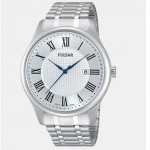 Men's Silver-Tone Bracelet Band Watch