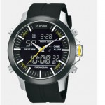 Men's Black Polyurethane Band Watch