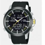 Men's Black Polyurethane Band Watch