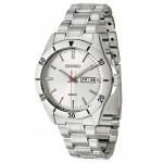Men's Seiko Silver Finish Bracelet Band Watch