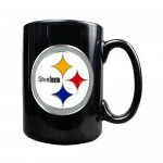 Pittsburgh Steelers 15oz Black Ceramic Mug