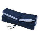 Dark Blue with Light Blue Trim Jewelry Roll