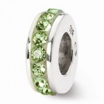 Sterling Silver Reflections August Single Row Swarovski Elements Bead