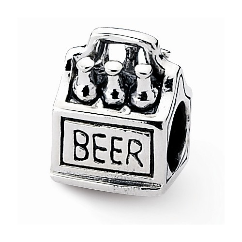 Sterling Silver Reflections 6-Pack Beer Bead