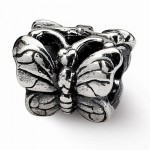 Sterling Silver Reflections Butterfly Bead