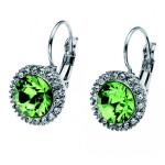 Oliver Weber Green Swarovski Crystal Earrings