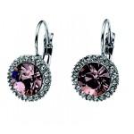 Oliver Weber Pink Swarovski Crystal Earrings