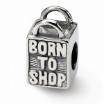 Sterling Silver Reflections Born to Shop Bead