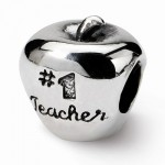 Sterling Silver Reflections #1 Teacher on Apple Bead
