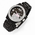 Hello Kitty Black Acrylic Bracelet Band Watch