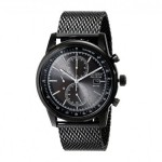 Gents Citizen Eco Drive Watch with Black Stainless Steel Band and Chronograph