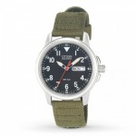 Gents Citizen Eco Drive Canvas Strap Citizen Watch with Black Day/Date Dial.