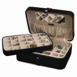 Black 48-Section Earring Case