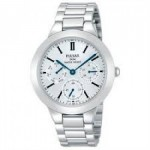 Pulsar Ladies Stainless Steel Bracelet Band Chronograph Watch with Blue Hands