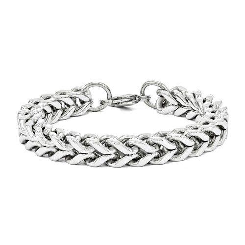 Stainless Steel Heavy Wheat 9.5in Bracelet
