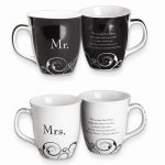 Common Grounds 16 Oz Mr. And Mrs. Stoneware Mug Set