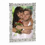 Silver-Tone Metal With Crystal Accent 5x7 Photo Frame