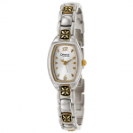 Caravelle by Bulova Ladies Fancy Design Yellow Gold Plated Stainless Steel Band Watch