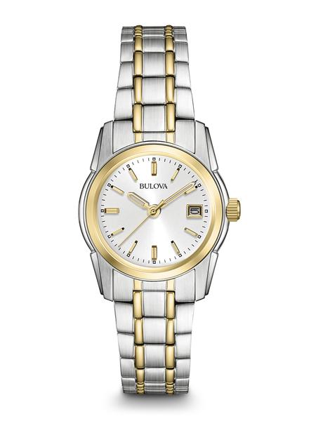 Bulova Ladies Two-Tone Stainless Steel Bracelet Band Watch with Calendar