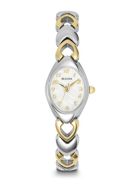 Bulova Ladies Two-Tone Stainless Steel Bracelet Band Watch