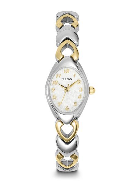 Bulova Ladies Two-Tone Stainless Steel Bracelet Band Watch