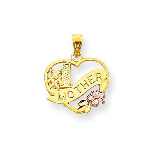 10k Two-Tone #1 Mother Heart Charm