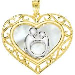 Mother & Child® Heart Pendant 10k Yellow Gold