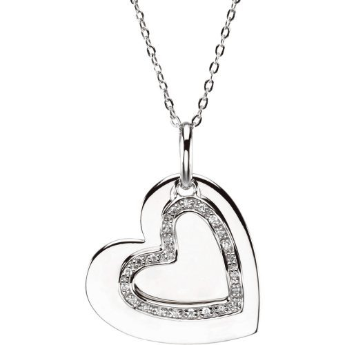 Sterling Silver Mother & Son Heart Necklace