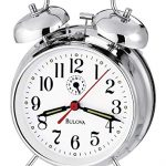 Silver Tone Bulova Alarm Clock