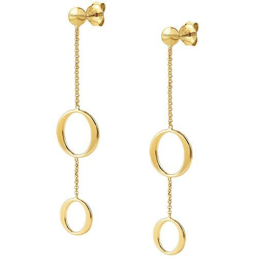 LONG UNICA EARRINGS WITH OVALS Nominations Jewelry