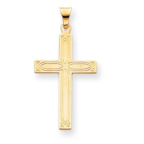 14k Solid Cross Pendant