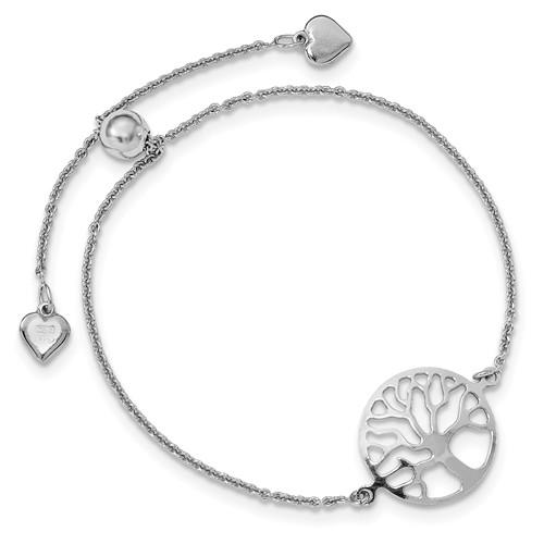 Leslie's Sterling Silver Tree Of Life Adjustable Bracelet