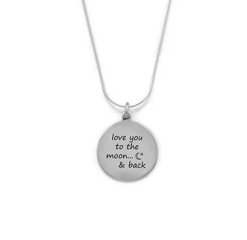 """""""Love You To The Moon And Back"""" Necklace"""