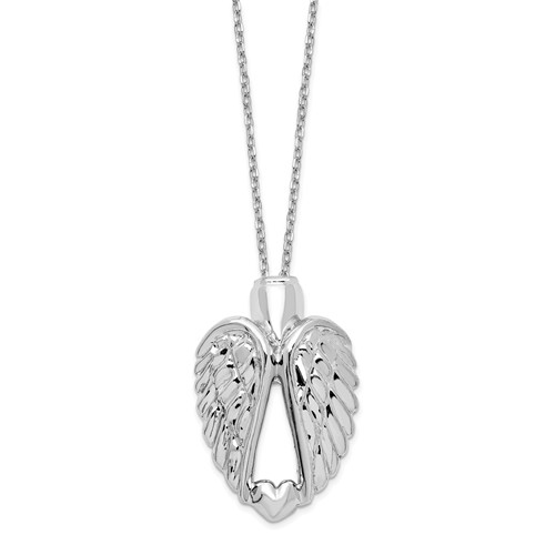 Sterling Silver Wings Ash Holder Necklace