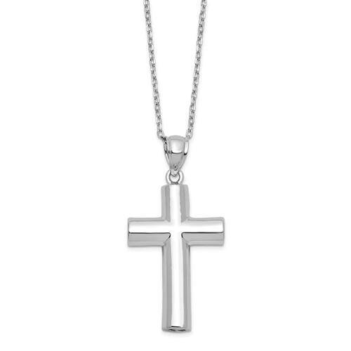 Sterling Silver Cross Ash Holder Necklace